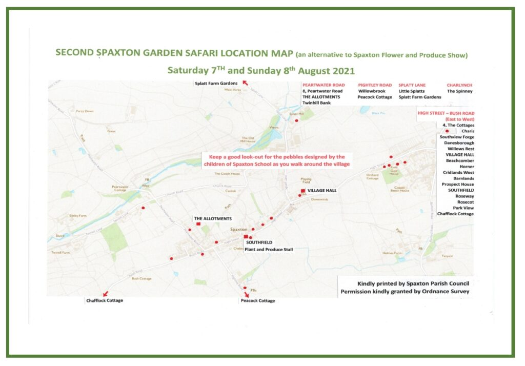 Garden Gates Safari Map