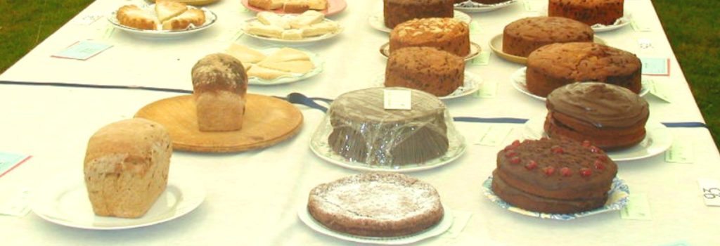 Delicious looking cakes at the Spaxton Flower Show