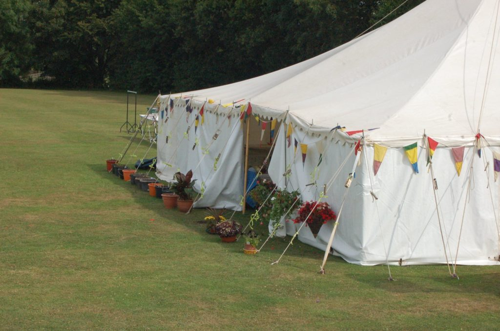Marquee at Spaxton Summer Show
