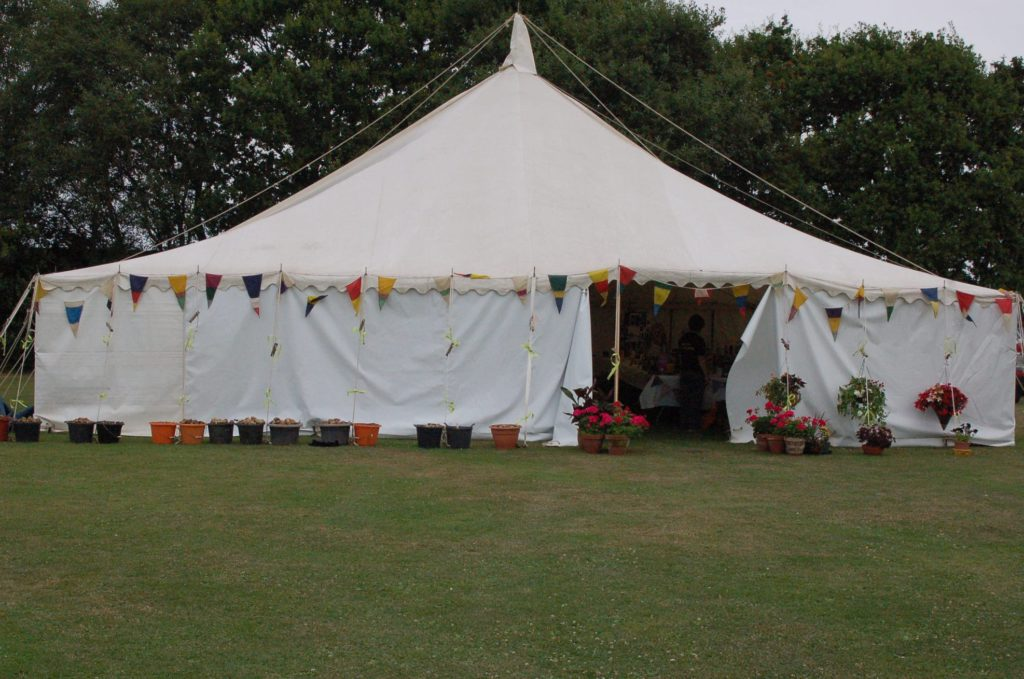 Marquee at the Spaxton Summer Show