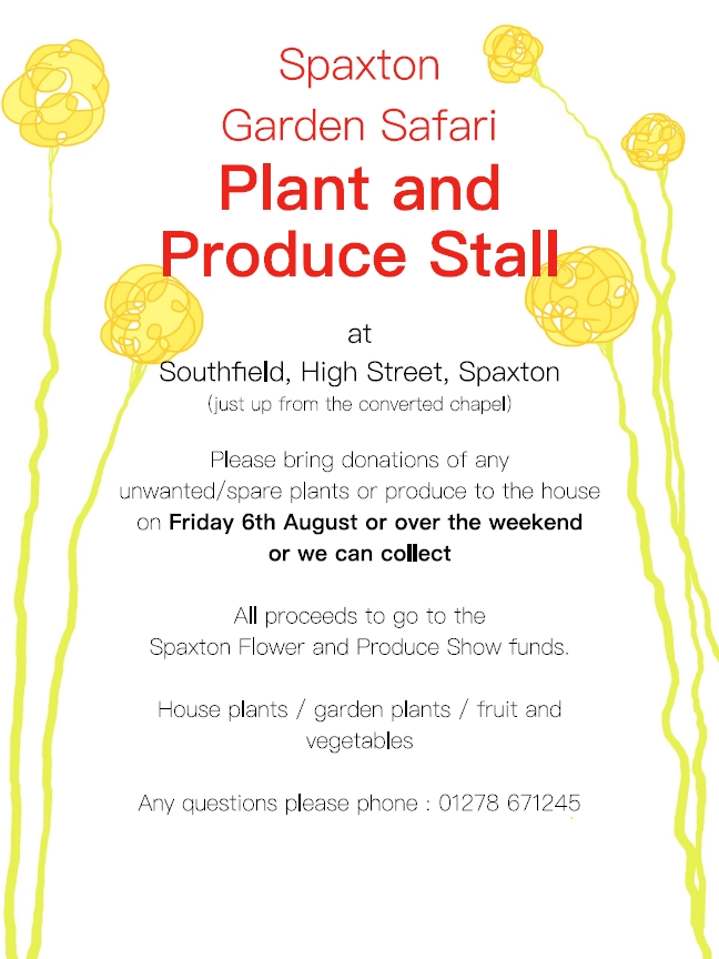 Plant and Produce stall poster
